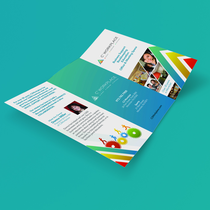 beautifully designed flyer for C3 Workplace