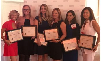 Rachel Durkan standing with other Leading Women Brand Builder honorees