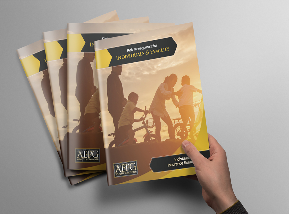 Beautifully designed booklets featuring AEPG Wealth Strategies