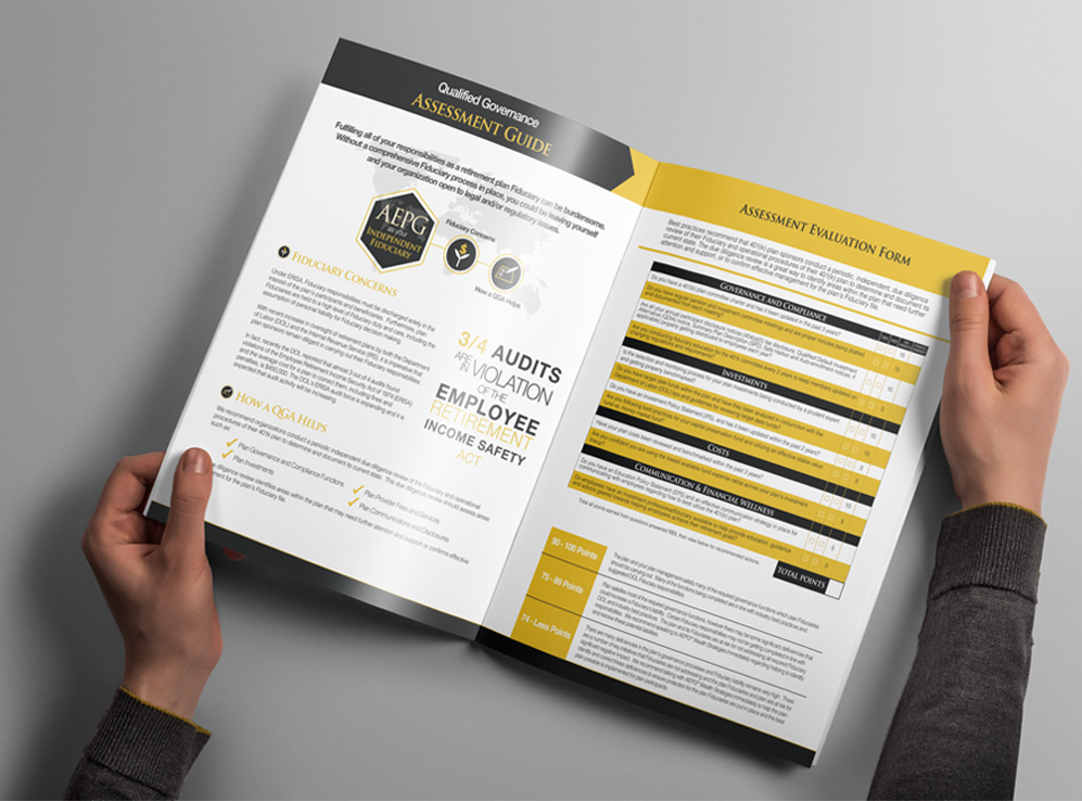 Beautifully designed brochure featuring AEPG Wealth Strategies