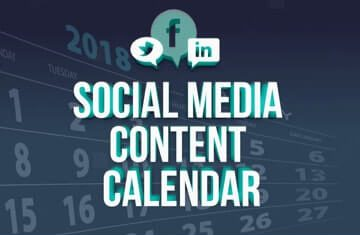 typographical image that reads Social Media Content Calendar