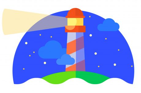 Illustration of a lighthouse