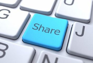 Share button on a keyboard