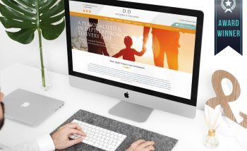 desktop computer featuring award-winning website design