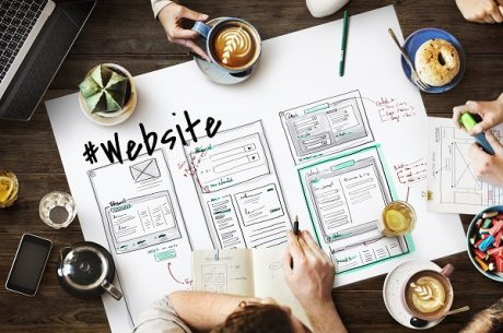 Website design planning sketch