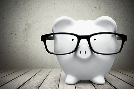 Piggy bank representing financial advisor marketing