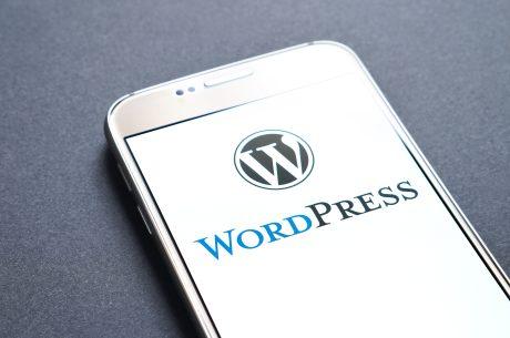 WordPress on a phone