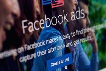Facebook ad webpage