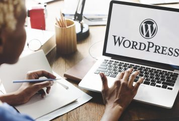 Small Business Owner Using WordPress